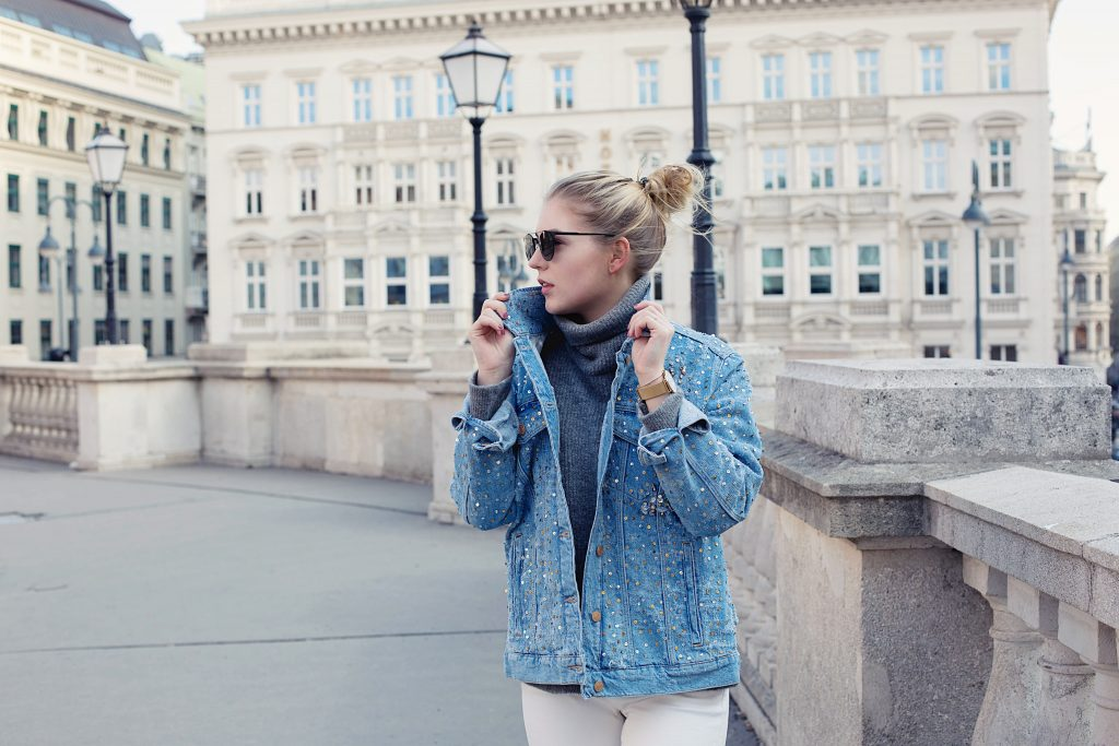 Outfit: Glitter for your Day – Denim Jacket